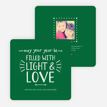 Christmas Cards Filled with Light & Love - Green