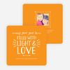 Christmas Cards Filled with Light & Love - Orange