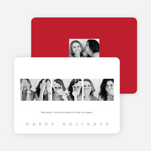 Classic Photo Holiday Cards - Red
