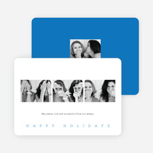 Classic Photo Holiday Cards - Blue