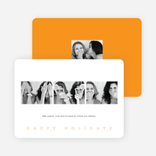 Classic Photo Holiday Cards - Orange