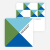 Corporate Patterns Business Holiday Cards - Blue