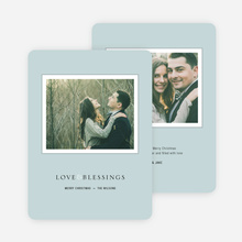 Framed Blessings Holiday Cards - Blue
