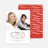 Handwritten Love: Holiday Cards for Newly Married Couples - Red