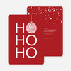 Ho Ho Ho Ornaments - Red