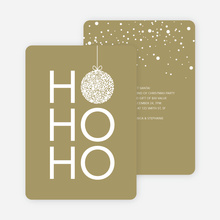 Ho Ho Ho Ornaments - Brown