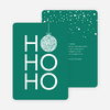 Ho Ho Ho Ornaments - Green