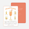 Holiday Mimosas Recipe Cards - Orange