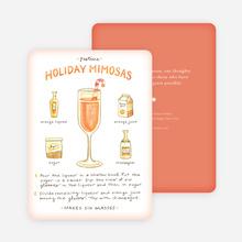 Holiday Mimosas Recipe Cards - Orange