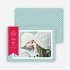 Holiday Photo Cards: Joy, Peace & Love Stripes - Blue