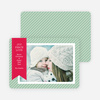 Holiday Photo Cards: Joy, Peace & Love Stripes - Green