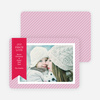 Holiday Photo Cards: Joy, Peace & Love Stripes - Pink