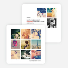Instant Squares Holiday Photo Cards - Black