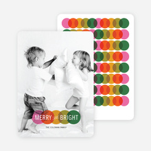 Intertwined Circles: Merry & Bright Holiday Cards - Multi