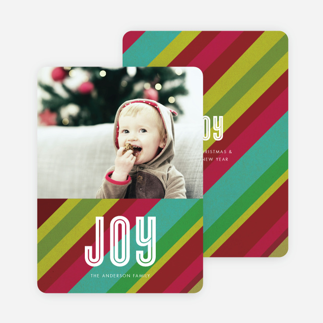 Joyful Stripes Holiday Cards - Multi