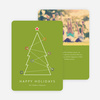 Linear Christmas Tree Cards - Green