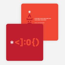 Santa Emoticon Christmas Cards - Black