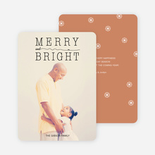 Snow Flurry Merry & Bright Holiday Cards - Beige