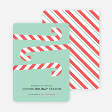 Sweet Holiday Candy Cane Cards - Green
