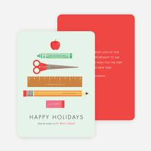 Teachers' Happy Holiday Cards - Green