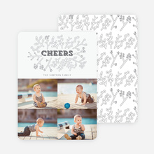 Toasting Mother Nature Holiday Cards - Gray
