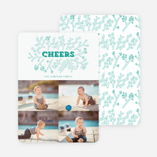 Toasting Mother Nature Holiday Cards - Green