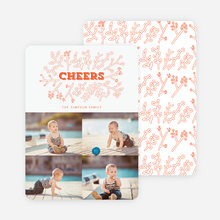 Toasting Mother Nature Holiday Cards - Orange