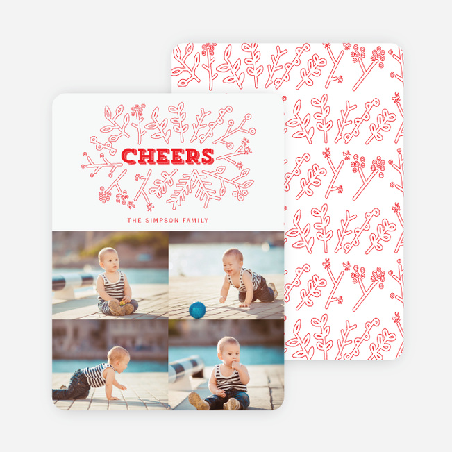 Toasting Mother Nature Holiday Cards - Red