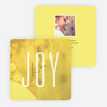 Visions of Joy Holiday Photo Cards - Yellow