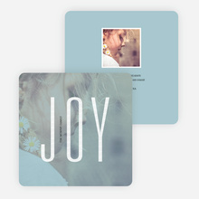 Visions of Joy Holiday Photo Cards - Blue