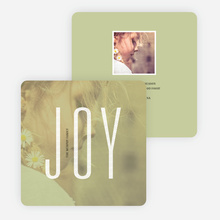 Visions of Joy Holiday Photo Cards - Green