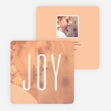 Visions of Joy Holiday Photo Cards - Orange