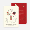 Winter Icons Holiday Party Invitations - Red