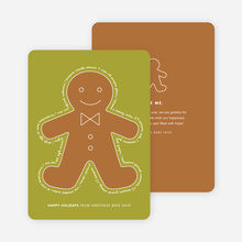 You Can Send Me, I'm the Gingerbread Man Holiday Cards - Green