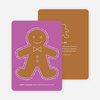 You Can Send Me, I'm the Gingerbread Man Holiday Cards - Purple