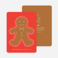 You Can Send Me, I'm the Gingerbread Man Holiday Cards - Red