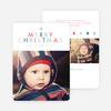A Simple Merry Christmas Card - Blue