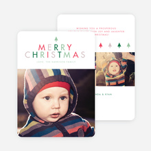 A Simple Merry Christmas Card - Green