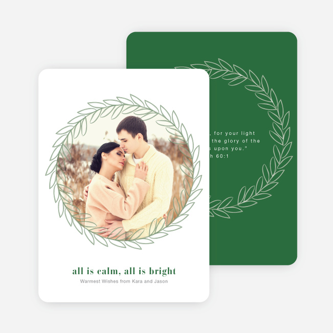 All is Calm, All is Bright Christmas Cards - Green