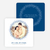 All is Calm, All is Bright Christmas Cards - Blue