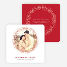 All is Calm, All is Bright Christmas Cards - Red