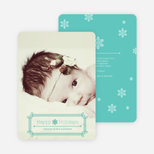 Art Deco Holiday Photo Cards - Blue