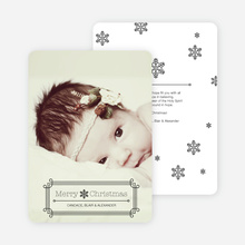 Art Deco Holiday Photo Cards - Black