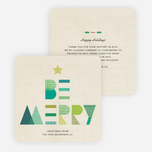 Be Merry Holiday Cards  - Green