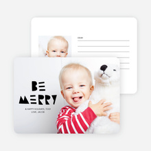 Be Merry Silhouette Holiday Cards - Black