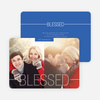 Blessed Christmas Cards - Blue