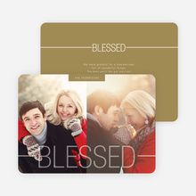 Blessed Christmas Cards - Brown
