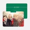 Blessed Christmas Cards - Green