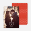 Diamond Peace Holiday Photo Cards - Red