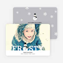 Frozen Christmas Cards - Gray
